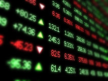 Colored ticker board on black Stock Image