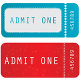 Colored ticket. Special colored admit one ticket Royalty Free Stock Photos