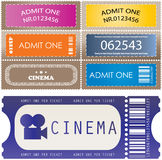 Colored tickets. In different styles Royalty Free Stock Photos