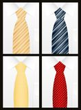 Colored tie set Royalty Free Stock Images