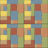 Colored Tiles. A colored tile seamless pattern for backgrounds and wallpaper Stock Image