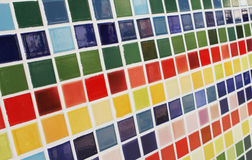 Colored tiles. Royalty Free Stock Photos