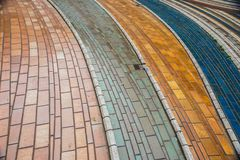 Free Colored Tiles Ceramic Pavement .Modern Glass Mosaic Background, Texture Stock Photo - 100213920
