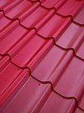 Colored tin roof structure. That mimics the tiles Royalty Free Stock Photo
