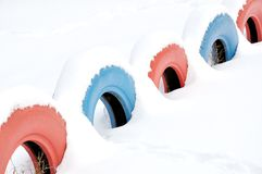 Colored tires Royalty Free Stock Photos