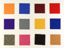 Colored tissue samples Royalty Free Stock Photo