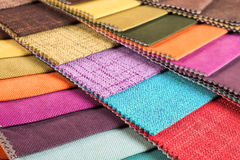Colored tissue samples Royalty Free Stock Images