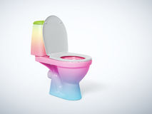 Colored toilet bowl on background. File contains a path to isolation Stock Images