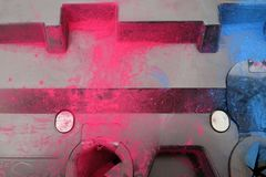 Colored toner stock images