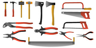 Colored  Tools Royalty Free Stock Images