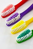 Colored tooth brushes Stock Image