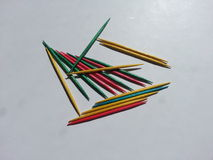 Colored toothpicks on white background Stock Photography