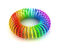 Colored torus spiral Royalty Free Stock Photos