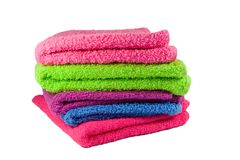 Colored towels Royalty Free Stock Images