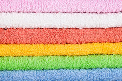 Colored towels background Royalty Free Stock Photo