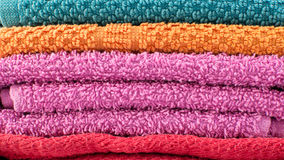 Background from colored towels Stock Photo