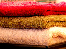 Colored towels Stock Photography