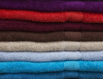 The colored towels Royalty Free Stock Photo