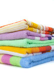 Colored towels. On a white background Royalty Free Stock Photography