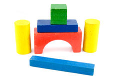 Colored toy blocks Royalty Free Stock Photography