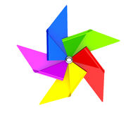 Colored Toy Pinwheel Windmill Stock Image