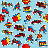 Colored toys pattern Royalty Free Stock Image