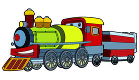 Colored train - illustration for the children Stock Images