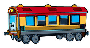 Colored train - illustration for the children Stock Photo