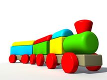 Colored train toy Stock Image