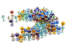 Colored transparent beads Stock Images