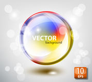 Colored transparent sphere Royalty Free Stock Images