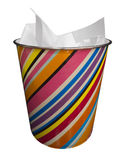 Colored trash. On a white background Stock Images