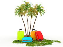 Colored travel concept Stock Image