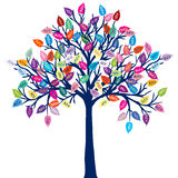 Colored tree with discount leaves Royalty Free Stock Photos