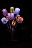 Colored Tree lamp Stock Photography