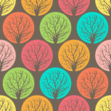 Colored trees. Seamless Putterns with colored trees Royalty Free Stock Photography