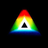 Colored triangle Stock Images