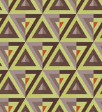 Colored triangle pattern. Multicolor triangle pattern including seamless sample in swatch panel Stock Photo