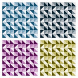 Colored Triangle Patterns. Four abstract triangle repeat patterns in different colors, can be tiled seamlessly Royalty Free Stock Photos