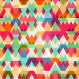 Colored triangle seamless pattern Royalty Free Stock Photo