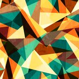 Colored triangle seamless texture with wood effect Royalty Free Stock Photography