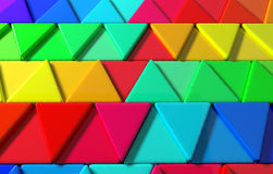 Colored triangles. 3d rendering with triangles of a lot of colors royalty free illustration