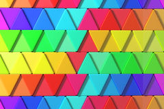 Colored triangles. 3d rendering with triangles of a lot of colors stock illustration
