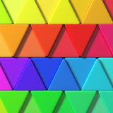 Colored triangles Royalty Free Stock Photos