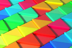 Colored triangles. 3d rendering with triangles of a lot of colors vector illustration