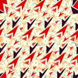 Colored triangles seamless geometric pattern vector wallpaper Royalty Free Stock Photo