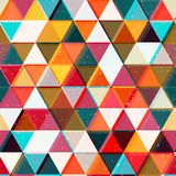 Colored triangles seamless pattern. Eps 10 vector file Stock Image