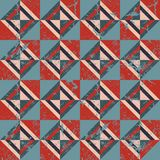 Colored triangles. Seamless pattern. Grunge.  Royalty Free Stock Images