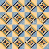 Colored triangles. Seamless pattern. Grunge.  Stock Photo