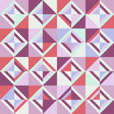 Colored triangles. Seamless pattern. Pink Stock Photos
